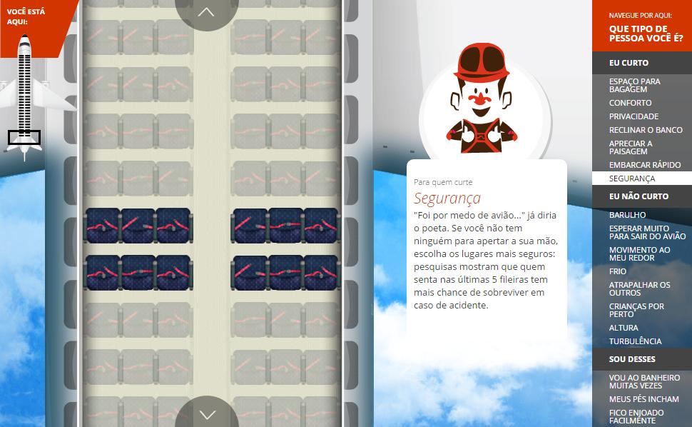 Como escolher seu assento no avião