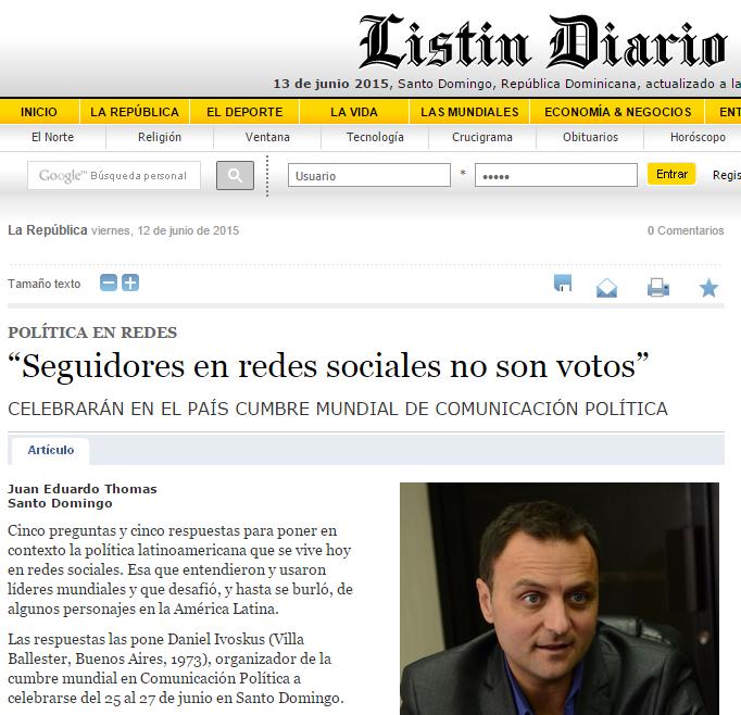 Seguidores em redes sociais não são votos! (Daniel Ivoskus)