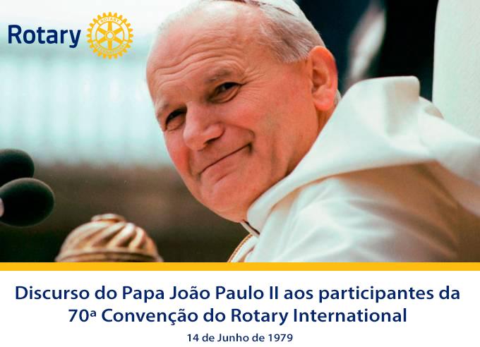 Discurso do Papa João Paulo II aos participantes da 70ª Convenção do Rotary International