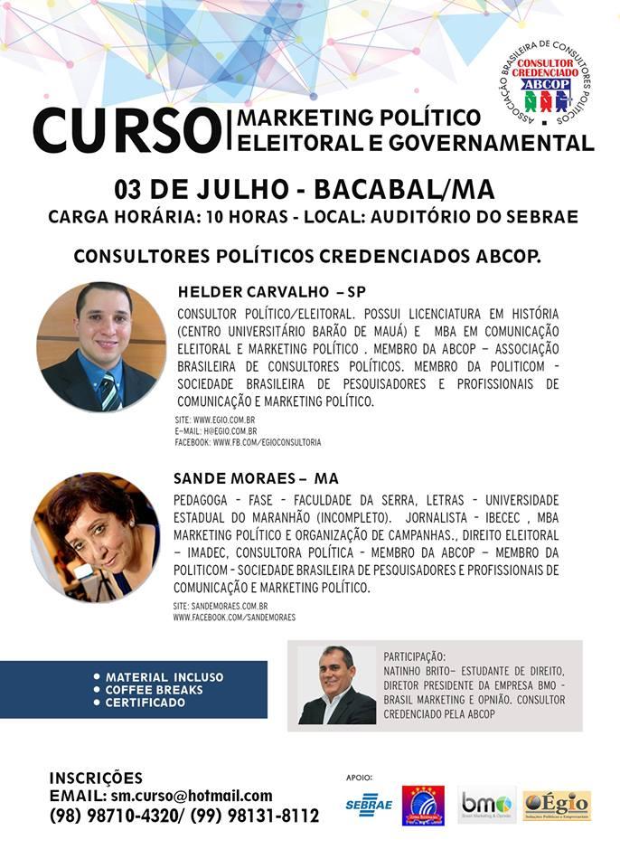 Curso de Marketing Político – Bacabal – MA
