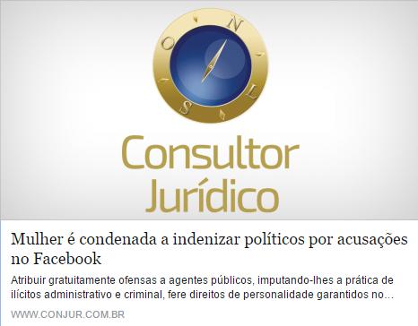 Mulher é condenada a indenizar políticos por acusações feitas no Facebook